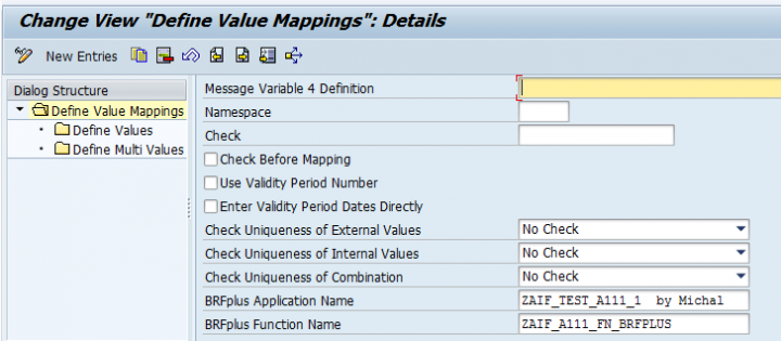 AIF 3 0 value mappings integrated with BRFPlus/DSM - SAP