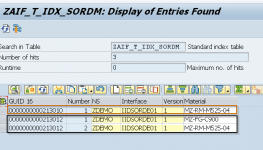 Content Preview of SAP AIF Multi Index table in SE16n