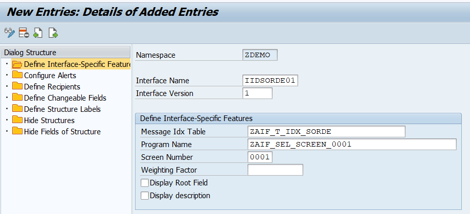 SAP AIF - Namespace Specific Entries for Single Index Table