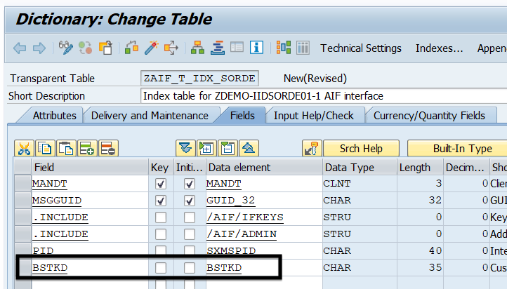 Single Index table in SAP AIF