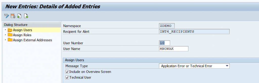 SAP AIF - Assigning new user to recipient list
