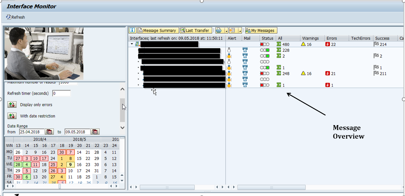 Set up interface in SAP AIF Interface Monitor ( /aif/ifmon