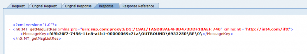 SAP AIF - proxy message response