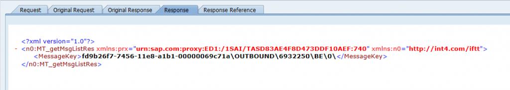 SAP AIF - proxy message response