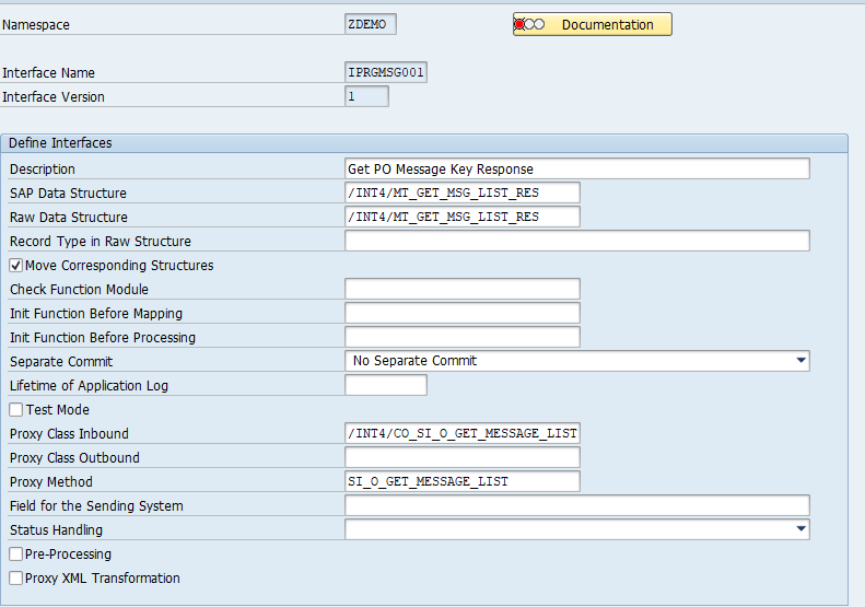 Outbound SAP AIF interface definition - response - SAP