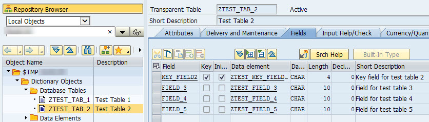 SDI Source Data Preparation Test Table
