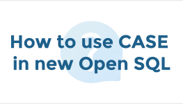 How to use CASE in new Open SQL