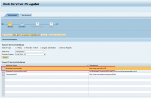 WebService Navigator Service Interface