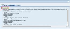 WebService Navigator Result XML Content