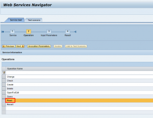 WebService Navigator Operations