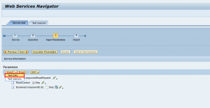 WebService Navigator Parameters