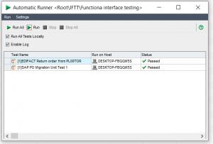 Int4 IFTT Automatic Runner dialog