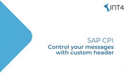 SAP CPI Custom Header