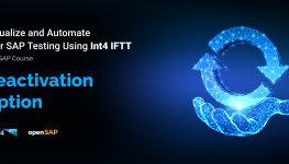 open SAP reactivate option int4